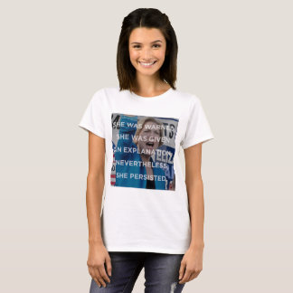 Elizabeth w nevertheless she persisted t-shirt