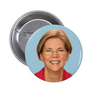 elizabeth warren 6 cm round badge