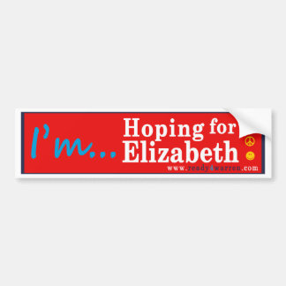 Elizabeth Warren for President 2016 bumper sticker