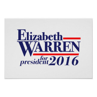 Elizabeth Warren for President 2016 poster