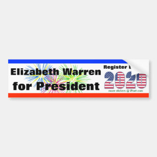 ELIZABETH WARREN FOR PRESIDENT 2020  - BUMPER STICKER