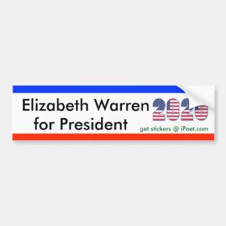 ELIZABETH WARREN FOR PRESIDENT 2020 bumpersticker Bumper Sticker