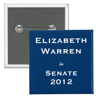Elizabeth Warren for Senate 15 Cm Square Badge