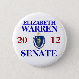 ELIZABETH WARREN FOR SENATE 6 CM ROUND BADGE