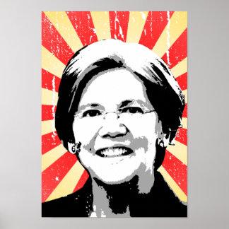 Elizabeth Warren Portrait Poster
