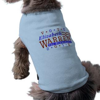Elizabeth Warren President 2016 Election Democrat Sleeveless Dog Shirt