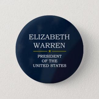 Elizabeth Warren President V3 6 Cm Round Badge