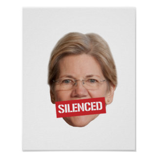 Elizabeth Warren Silenced -- Poster