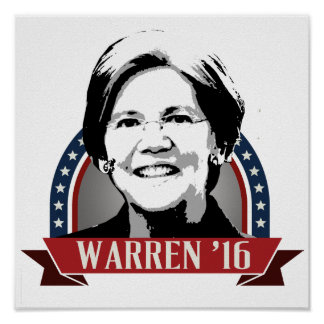 ELIZABETH WARREN TO RUN IN 2016 -.png Poster