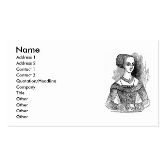 Elizabethan Clothing Business Card