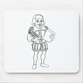 Elizabethan Shakespeare Cartoon Character Mouse Pad