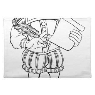 Elizabethan Shakespeare Cartoon Character Placemat