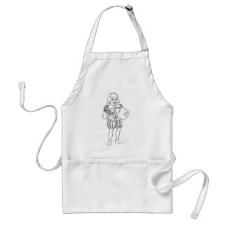 Elizabethan Shakespeare Cartoon Character Standard Apron