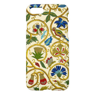 Elizabethan Swirl Embroideries-Goldwork imitation iPhone 8/7 Case