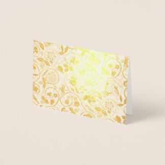 Elizabethan Swirl Embroideries - Metallic Goldwork Foil Card