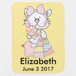 Elizabeth's Personalized Kitty Baby Blanket