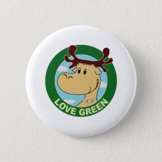 Elk 6 Cm Round Badge