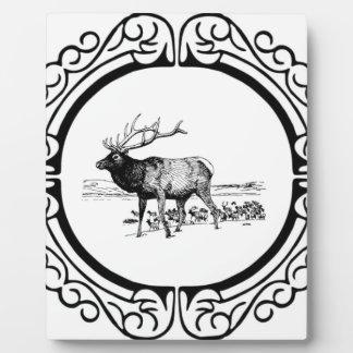elk art in frame