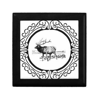 elk art in frame gift box