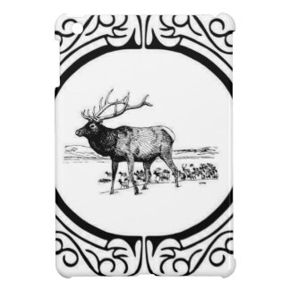 elk art in frame iPad mini case