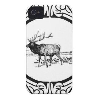 elk art in frame iPhone 4 cover