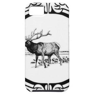 elk art in frame iPhone 5 case
