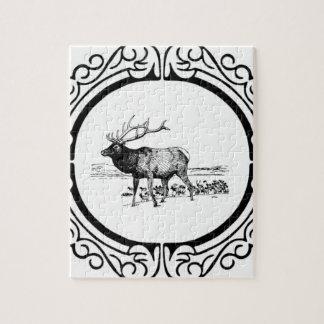elk art in frame jigsaw puzzle