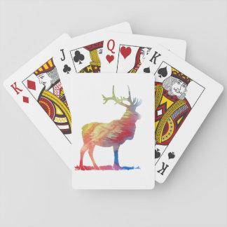 Elk art playing cards