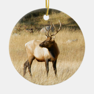 Elk Ceramic Ornament