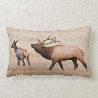 Elk (Cervus Elephus) Bull Herding Harem 2 Pillow