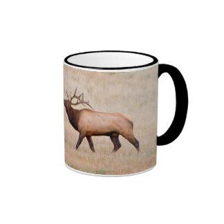 Elk (Cervus Elephus) Bull Herding Harem 2 Coffee Mug