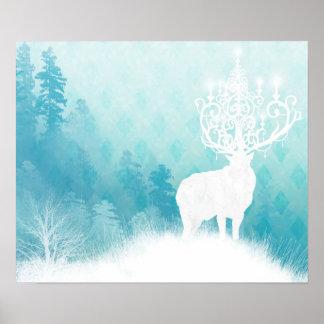 Elk Chandelier Poster