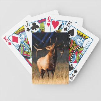 Elk Charging Bicycle Playing Cards