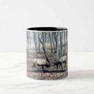 Elk Coffee Cup Two-Tone Coffee Mug