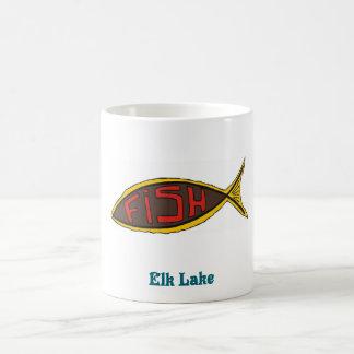 elk fish in fish basic white mug