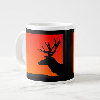 Elk Head Silhouette Design Large Coffee Mug