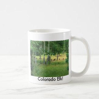 Elk Herd in the Rockies Mugs