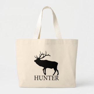 Elk Hunter Large Tote Bag