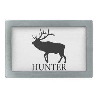 Elk Hunter Rectangular Belt Buckles