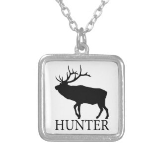Elk Hunter Silver Plated Necklace