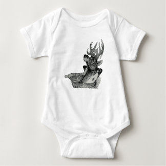 ELK IN HOT TUB BABY BODYSUIT