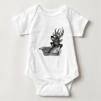 ELK IN HOTTUB BABY BODYSUIT