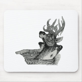ELK IN HOTTUB MOUSE PAD