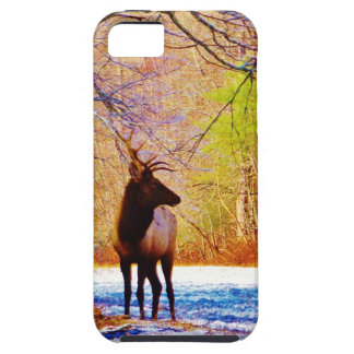 Elk in the snow iPhone 5 cover
