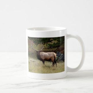 Elk in the Wild Basic White Mug