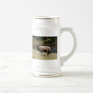 Elk in the Wild 18 Oz Beer Stein