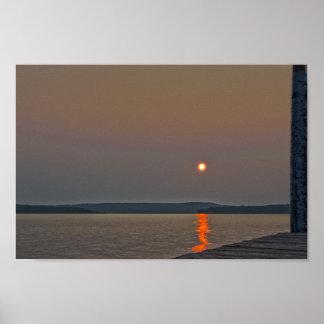 Elk Lake Sunrise, Michigan Poster