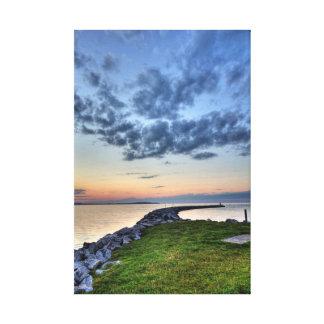 Elk Lake Sunset, Michigan Canvas Print