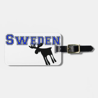 Elk/Moose, Sweden Luggage Tag