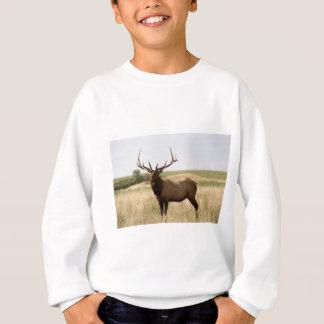 Elk on Canadian Prairies Sweatshirt